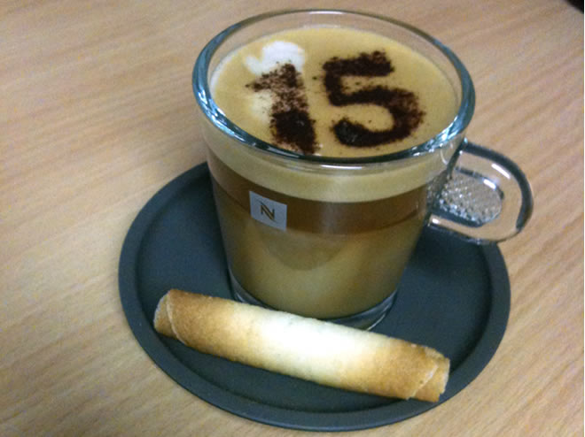 the 15 dental branded coffee